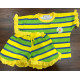 Set đồ bộ bé gái Sọc đũi nhiều sắc màu + có bèo dễ thương - Quần áo trẻ em Familylove Kids
