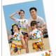 Set áo gia đình đi biển Chibi Cây dù