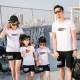 Set áo gia đình đi biển Summer giữa ngực