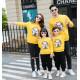 Set áo gia đình thu đông Sweatshirt Mèo chiêu Tài Trắng
