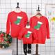 Set áo gia đình thu đông Sweatshirt Noel đôi vớ