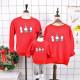 Set áo gia đình thu đông Sweatshirt Noel 3 chú người Tuyết