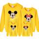 Set áo gia đình thu đông Sweatshirt Mickey Mouse chữ ký