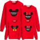 Set áo gia đình thu đông Sweatshirt chuột Mickey Father Mother Baby