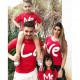 Set áo gia đình ghép chữ LOVE