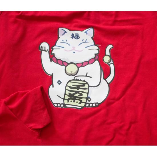 Set áo gia đình Mèo chiêu Tài trắng