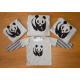 Set áo gia đình Gấu Panda phối Tay Sọc
