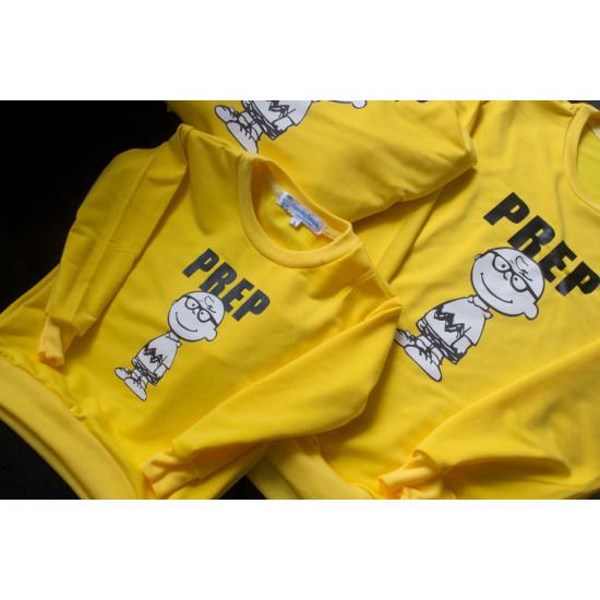 Set áo gia đình thu đông Sweatshirt Cậu bé Prep
