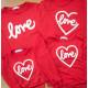 Set áo gia đình thu đông Sweatshirt chữ Love có viền Trái tim