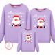 Đồng phục gia đình mùa đông tay dài Ông già Noel Bông Tuyết + Merry Christmas