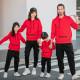 Đồng phục gia đình mùa đông Hoodie Nón + Túi vuông đẹp Y-AXIS