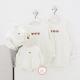 Áo gia đình mùa đông Sweatshirt 3 icon Gấu nhỏ dễ thương