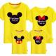Set áo gia đình Mickey mặt Tròn