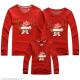 Đồng phục gia đình mùa đông tay dài Chú tuần lộc 2 sừng Merry Christmas