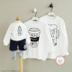 Đồng phục gia đình mùa đông Sweatshirt Need More Beer - Need More Coffee - Need more Milk