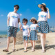 Áo gia đình đi biển Cá voi xanh phun nước