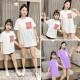 Áo gia đình áo đôi mẹ bé Logo Cô Gái