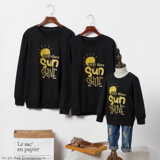 Áo đồng phục gia đình dài tay Sweatshirt Every Where Sunshine
