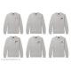 Áo đồng phục gia đình dài tay Sweatshirt Đại gia đình Chibi - Logo nhỏ